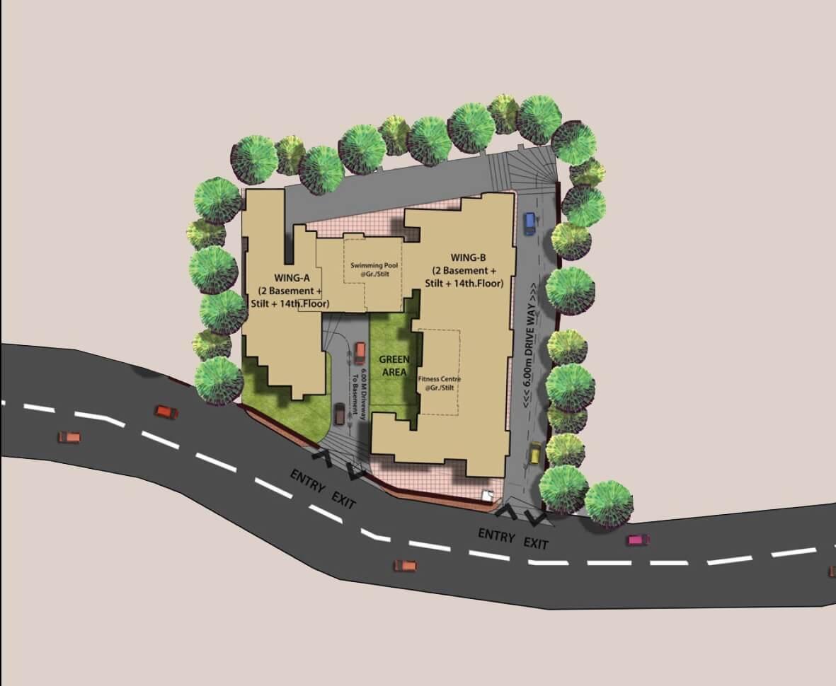 omkar meridia master plan image1