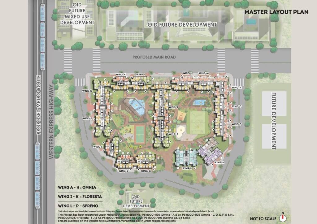omkar sereno master plan image1