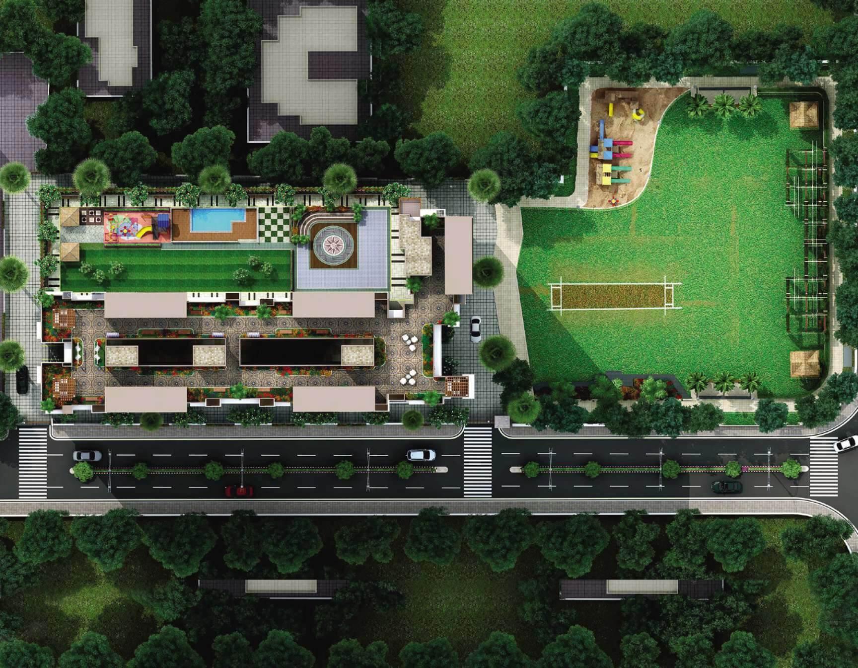 paradigm ananda residency master plan image1