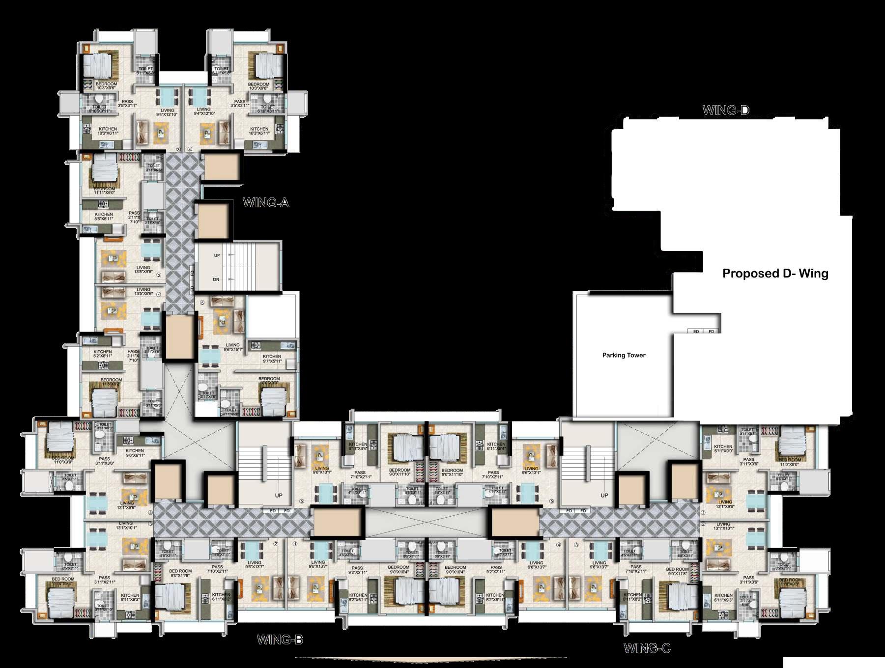 paradigm ariana residency project floor plans1