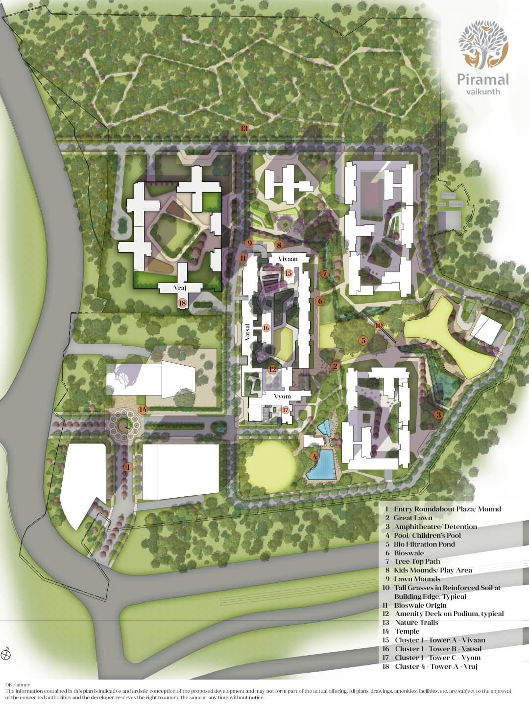 piramal vaikunth cluster 1 master plan image1