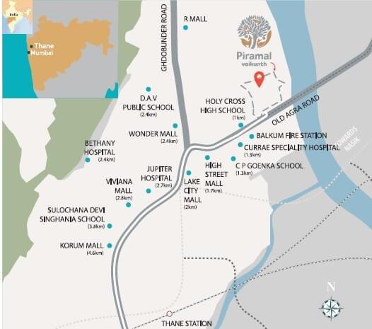 piramal vaikunth vairat location image2