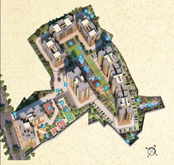 puraniks tokyo bay phase 2 project master plan image1