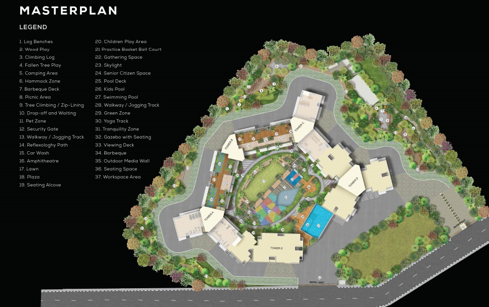 purva clermont project master plan image1