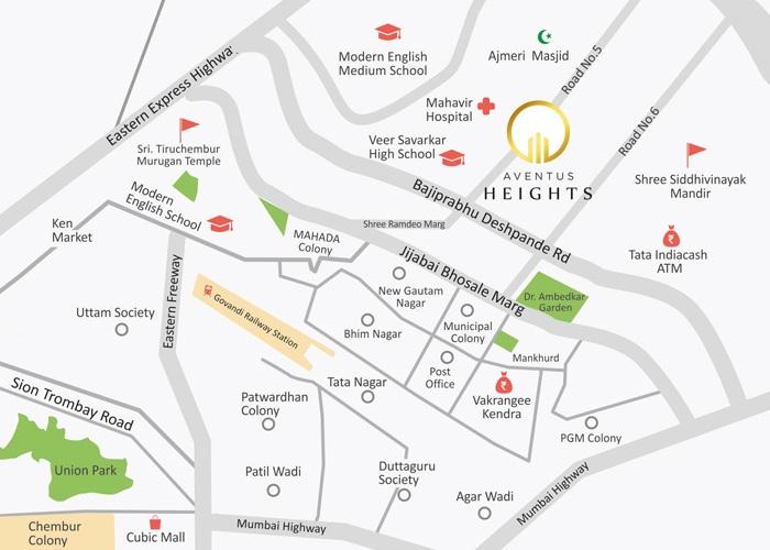 ratnaakar aventus heights project location image1