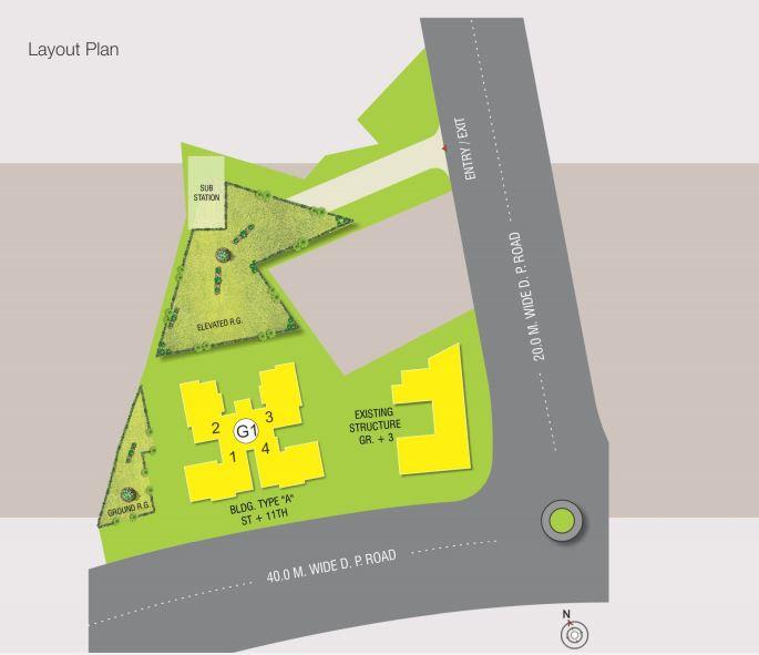 raunak glory project master plan image1