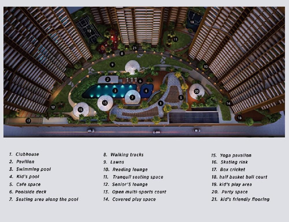 runwal elegante master plan image5
