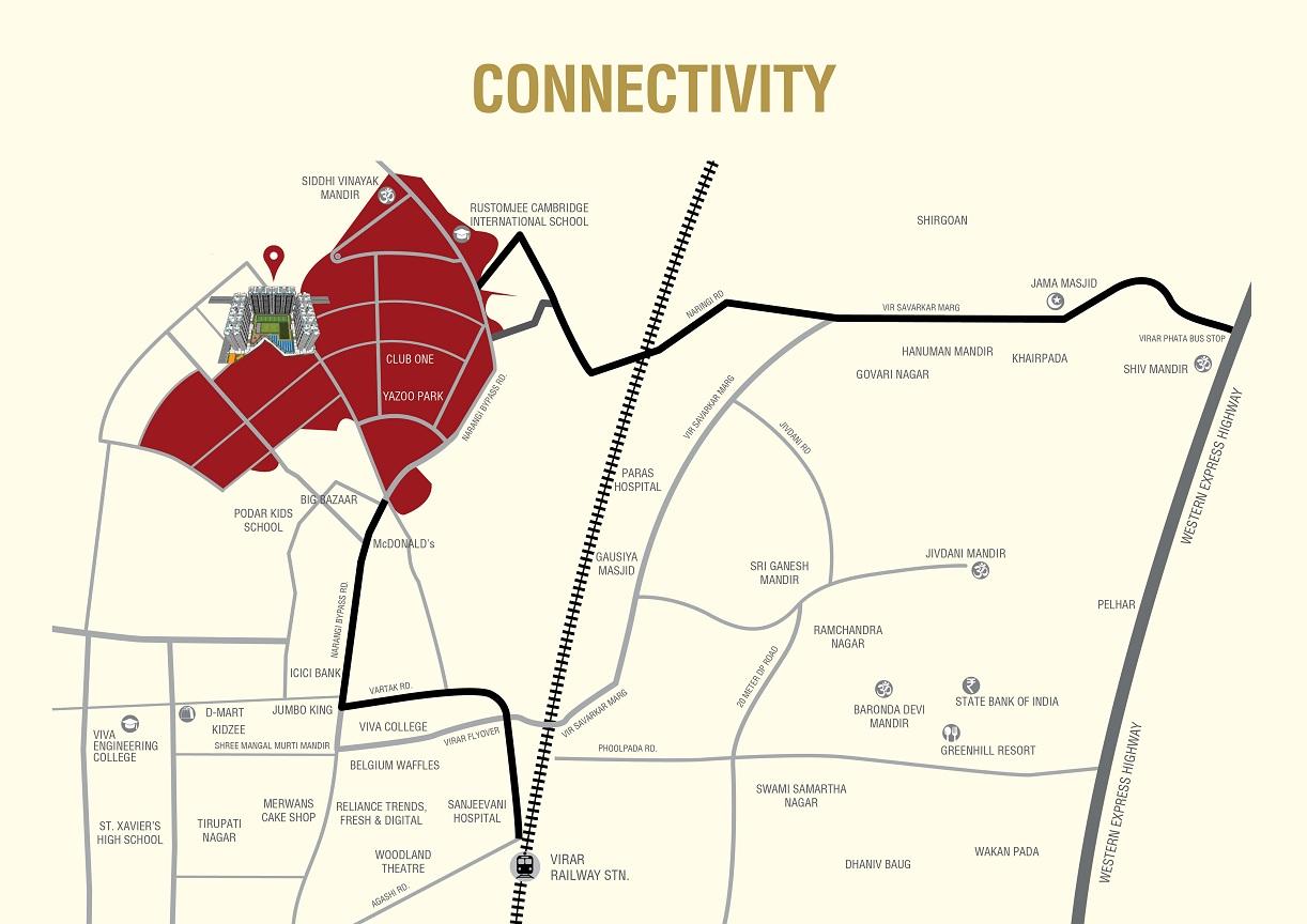 rustomjee avenue h project location image1