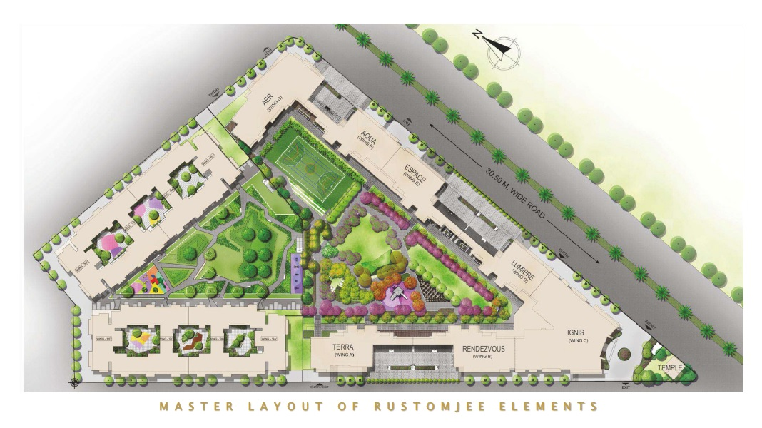 rustomjee elements project master plan image1