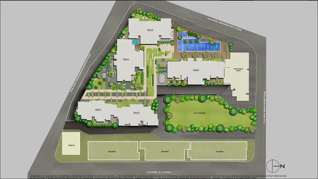 rustomjee paramount project master plan image1