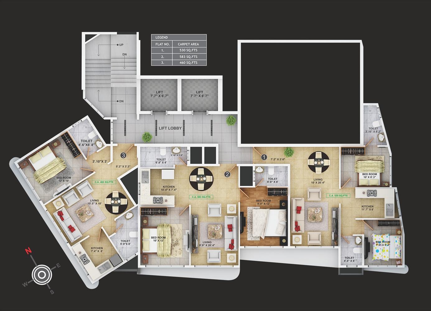 sanghvi aaditya pearl project floor plans1