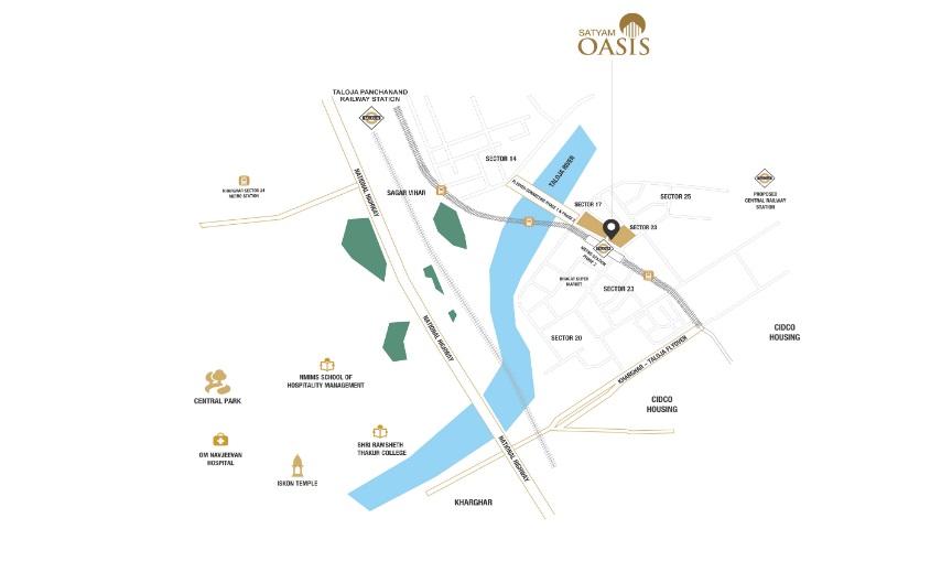 satyam oasis location image7