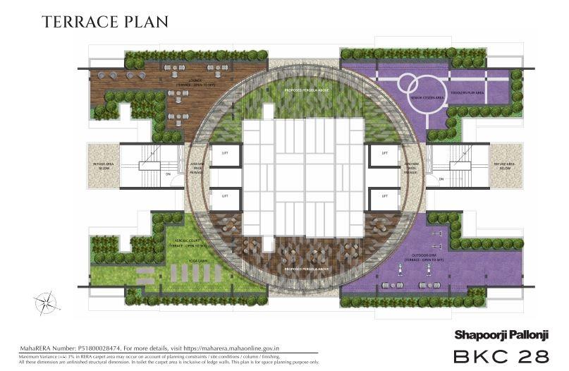 shapoorji pallonji bkc 28 project master plan image1
