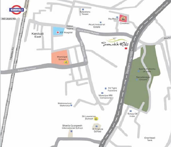 shree riddhi siddhi sumukh hills location image1