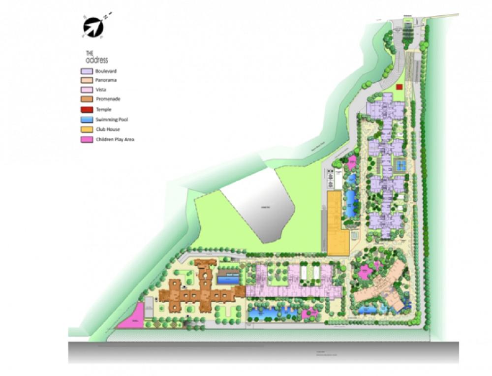 the wadhwa the address vista project master plan image1