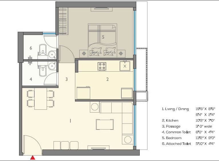a and o eminente phase 2 apartment 1bhk 374sqft41