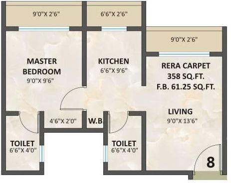 a h sapphire apartment 1 bhk 301sqft 20212903152905