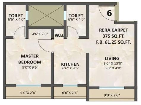 a h sapphire apartment 1 bhk 340sqft 20212603152642
