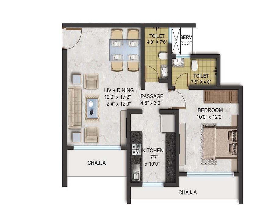 aadi passcode green gift apartment 1bhk 503sqft 21