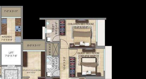 2 Bhk 700 Sq Ft Apartment For Sale In Paradigm Ananda Residency At Rs 2 40 Cr Mumbai