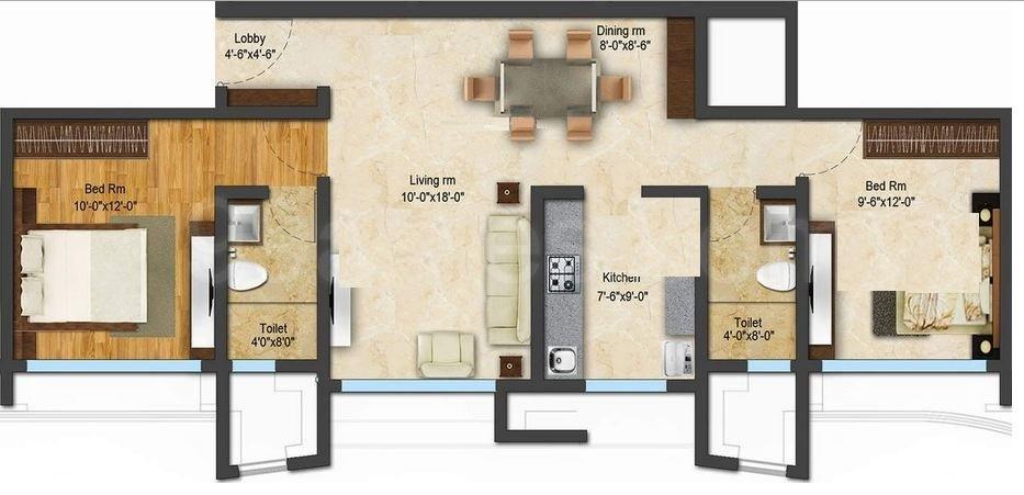 acme ozone apartment 2bhk 1001sqft 1