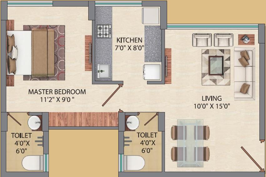 agami sapphire apartment 1bhk 336sqft01