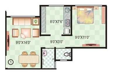 ajay raj complex apartment 1 bhk 500sqft 20204411144448