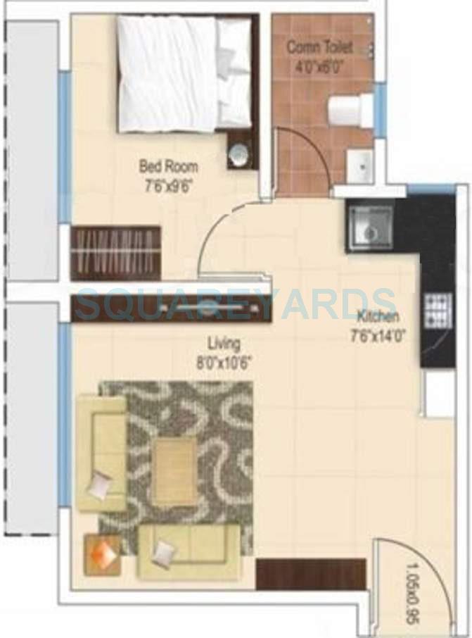 ajmera heritage city apartment 1bhk 432sqft1