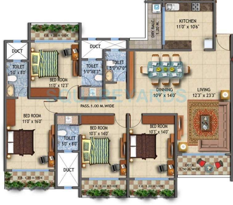 ajmera iconic apartment 4bhk 2465sqft1