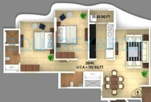 ajmera regalia apartment 2bhk 1080sqft1