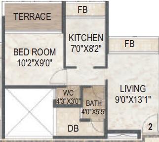 akshar evita apartment 1bhk 730sqft 1