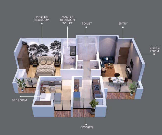 anantnath and forever city apartment 2bhk 574sqft 1