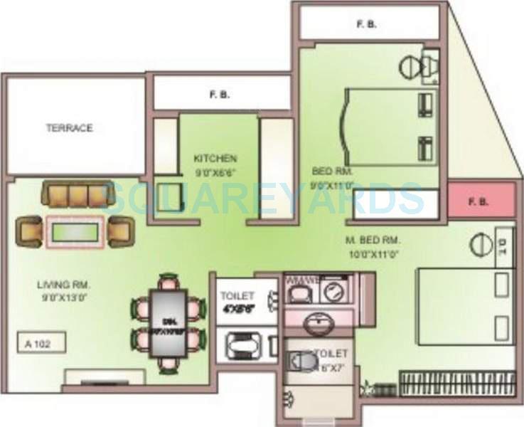 arihant aksh apartment 2bhk 930sqft1