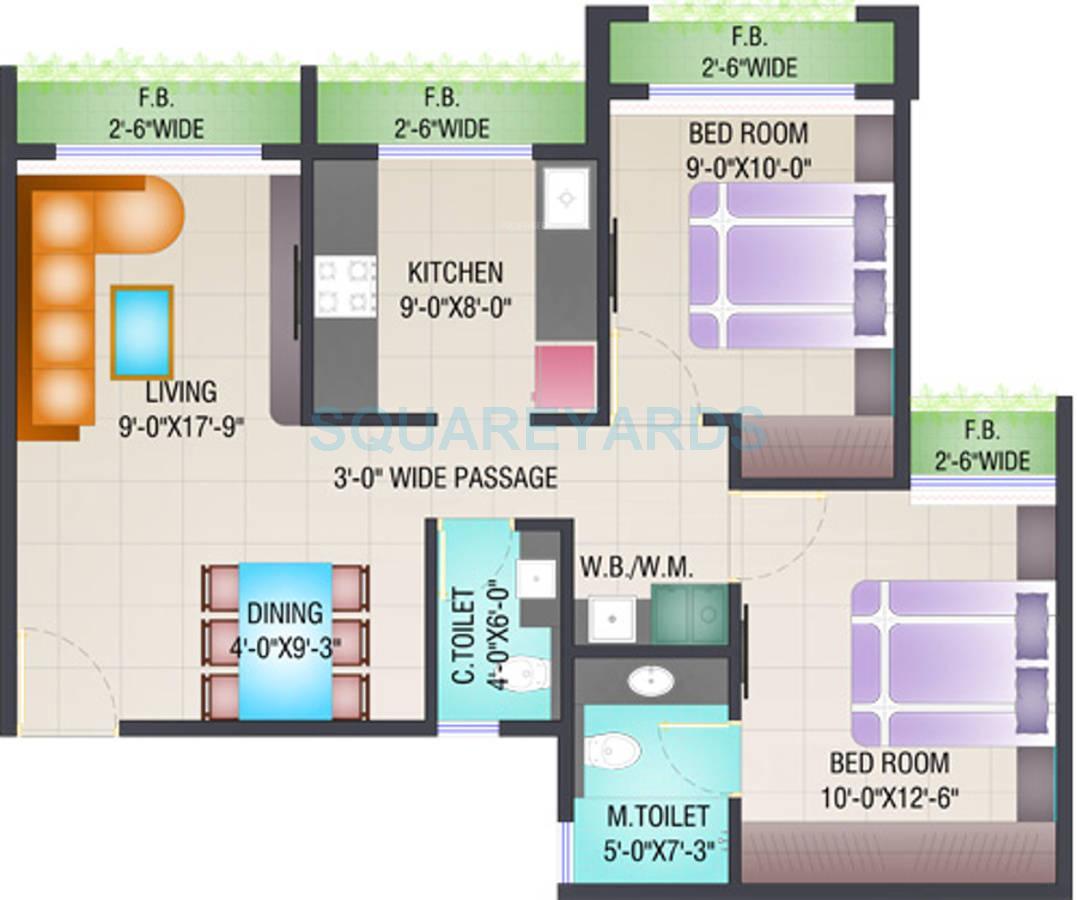 arihant aloki apartment 2bhk 910sqft1
