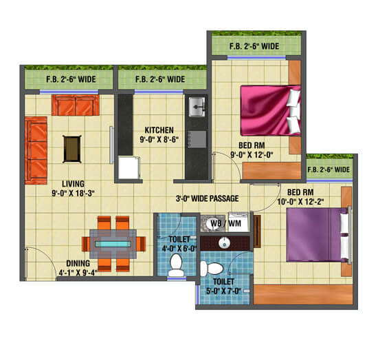 arihant anaika apartment 2bhk 1110sqft 1