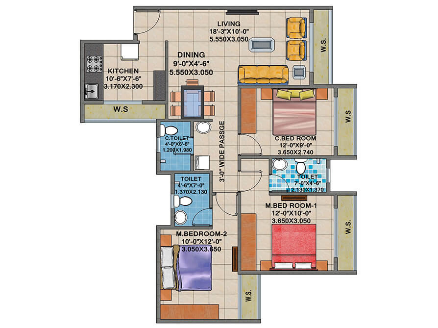arihant anshula apartment 3bhk 1520sqft 1