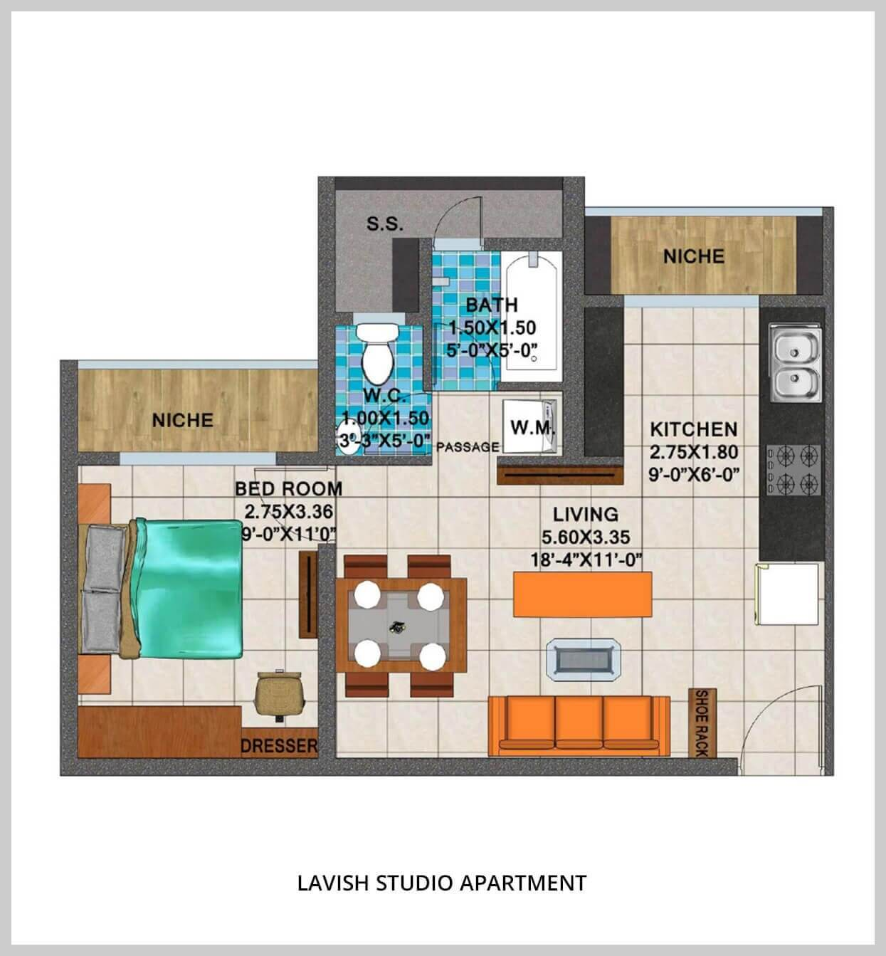 arihant aspire studio 775sqft41