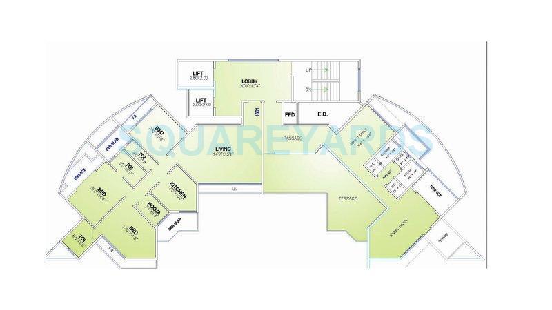 arihant sparsh apartment 3bhk 1500sqft 1