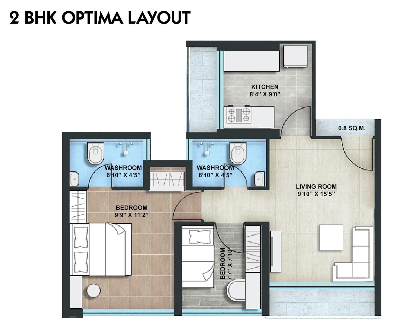 ashapura asha icon apartment 2bhk 450sqft11