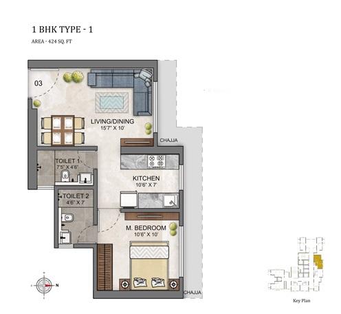 ashar maple birch apartment 1bhk 424sqft01