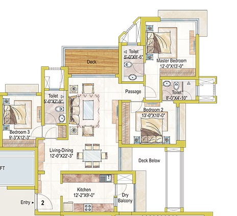 3 Bhk 1875 Sq Ft Apartment For Sale In Ashford Royale At Rs 15900 Sq Ft Mumbai
