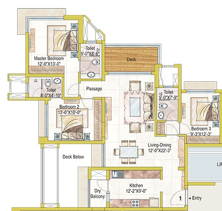 3 Bhk 2065 Sq Ft Apartment For Sale In Ashford Royale At Rs 15900 Sq Ft Mumbai
