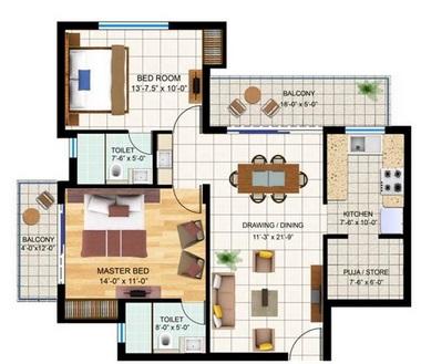 bharat swing apartment 2bhk 1030sqft1
