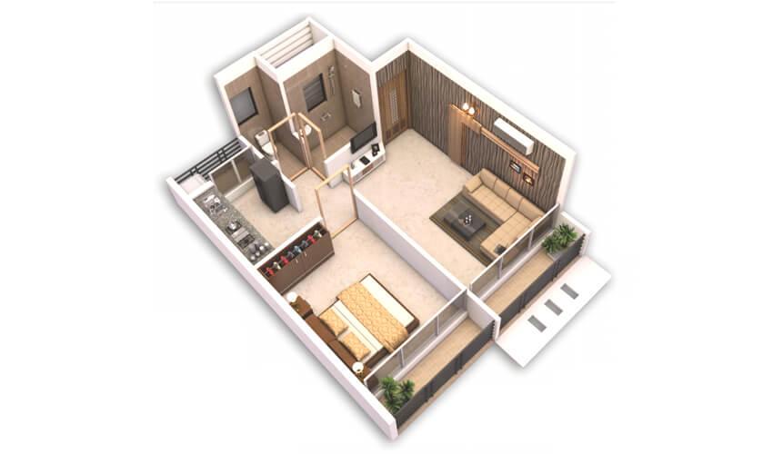 bhaveshwar ravechi height apartment 1bhk 290sqft 1