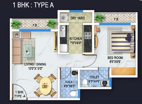 bhoomi acropolis apartment 1bhk 615sqft 1