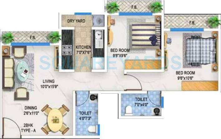 bhoomi acropolis apartment 2bhk 890sqft1