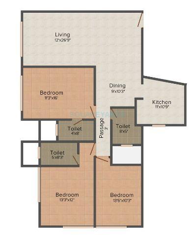 bhoomi realty aura biplex apartment 3bhk 1691sqft 1