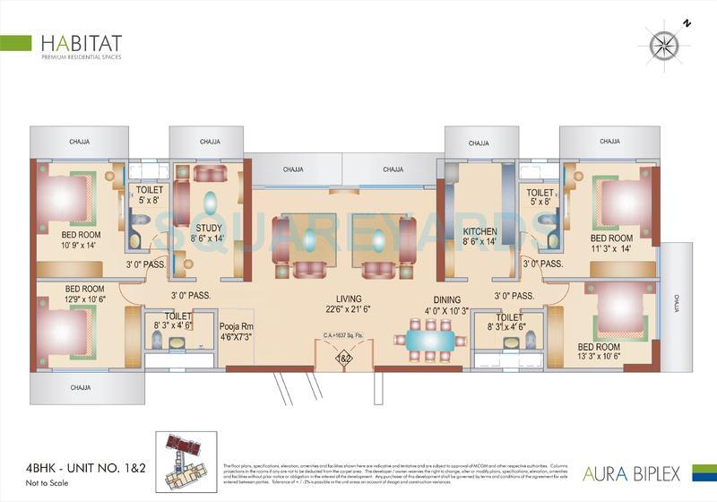 bhoomi realty aura biplex apartment 4bhk 1637sqft 1