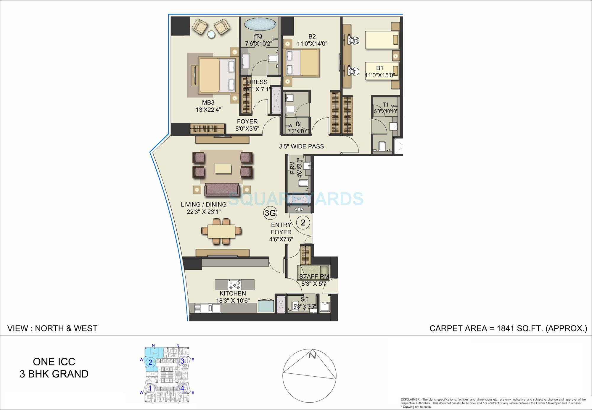 bombay realty one icc apartment 3bhk 1841sqft 1