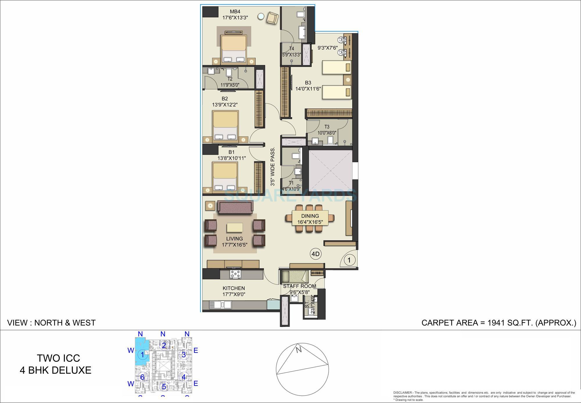 bombay realty one icc apartment 4bhk 1941sqft 1